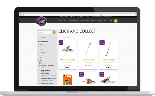 example of click & collect eCommerce store