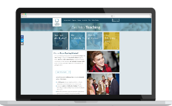 Get in to teaching website home page